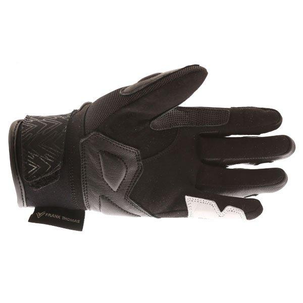 Frank Thomas FT-53 Ladies Black White Motorcycle Gloves Palm