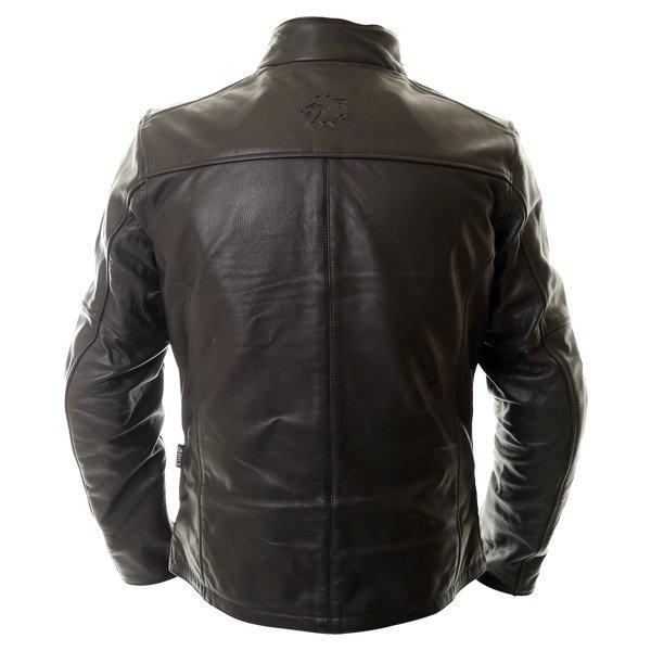 BKS Brandy Mens Black Leather Motorcycle Jacket Back