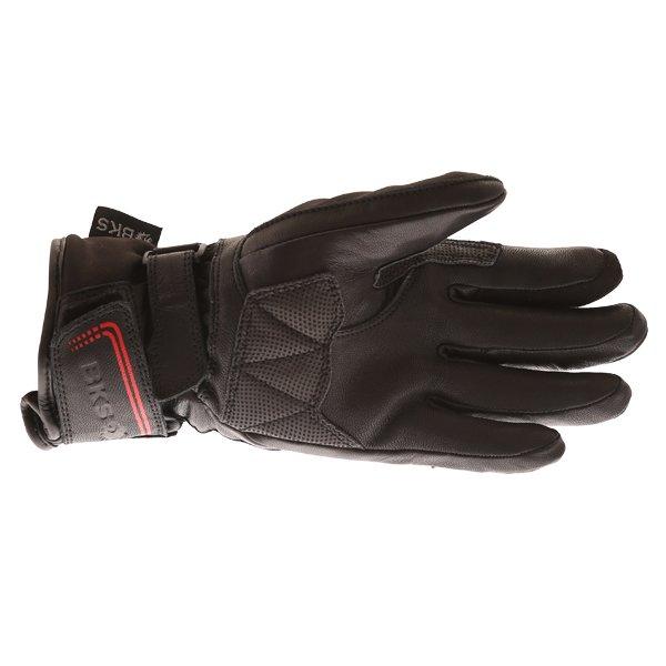 BKS BKS-106 Ladies Black Waterproof Motorcycle Gloves Palm