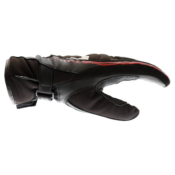 BKS BKS-106 Ladies Black Waterproof Motorcycle Gloves Thumb Side