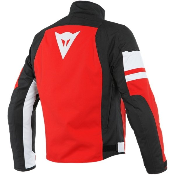 Dainese Saetta D-Dry White Red Textile Motorcycle Jacket Back