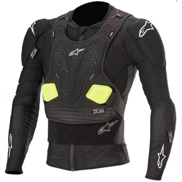Alpinestars Bionic Pro V2 Black Yellow Fluo Jacket Front