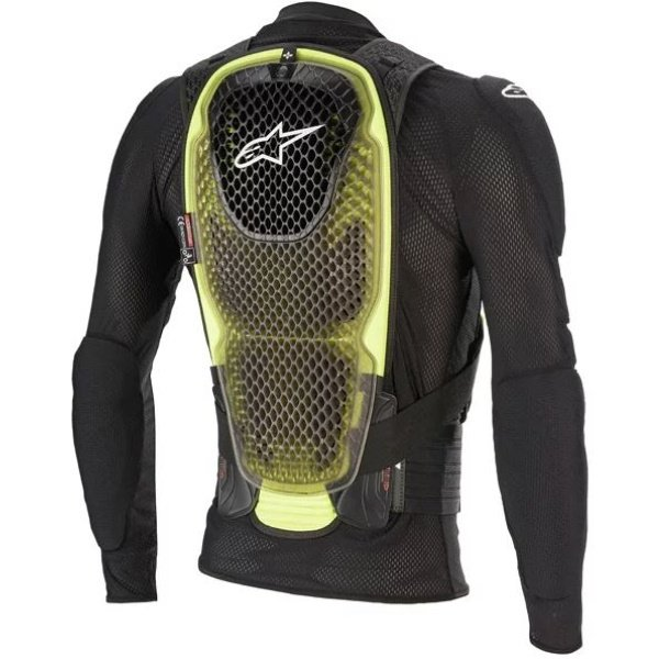Alpinestars Bionic Pro V2 Black Yellow Fluo Jacket Back
