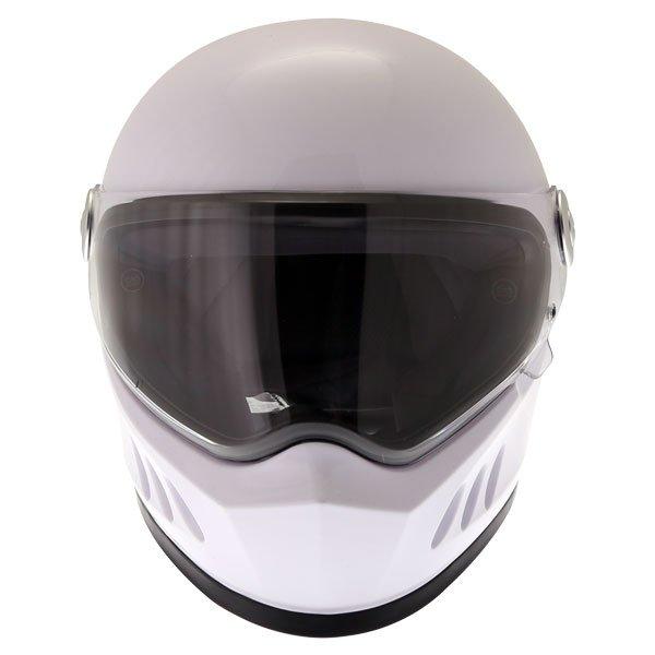 Frank Thomas FT833 Predator White Full Face Motorcycle Helmet Front