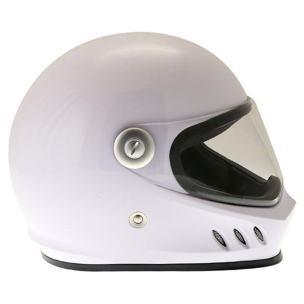 Frank Thomas FT833 Predator White Full Face Motorcycle Helmet Right Side