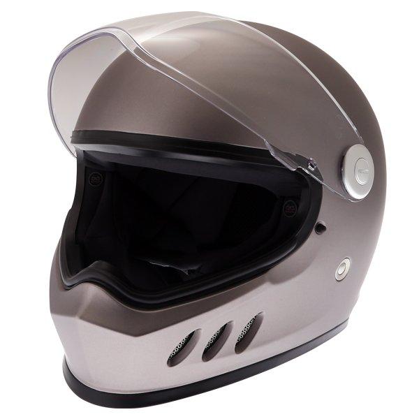 Frank Thomas FT833 Predator Titanium Full Face Motorcycle Helmet Open Visor