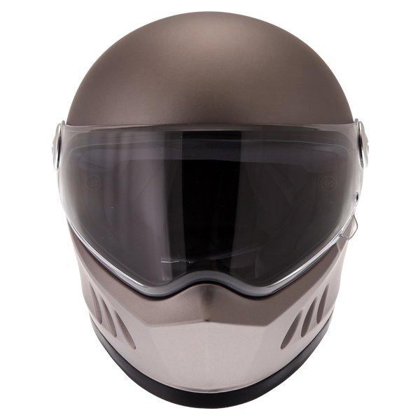 Frank Thomas FT833 Predator Titanium Full Face Motorcycle Helmet Front
