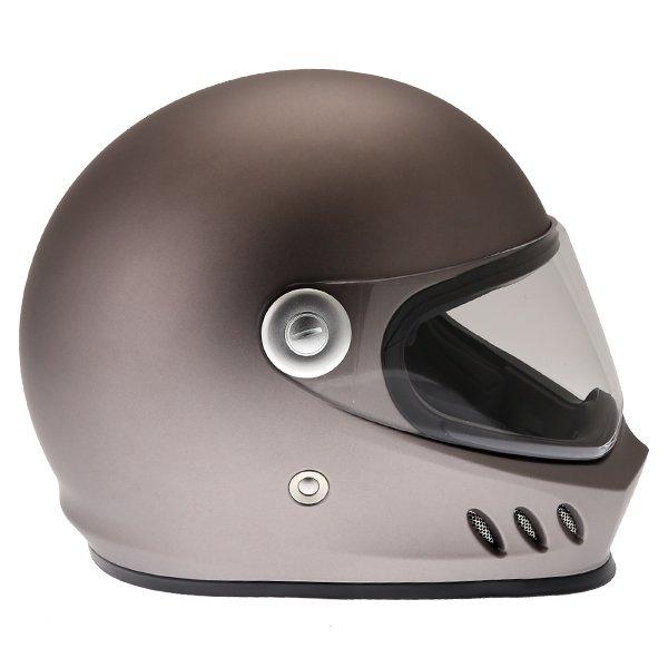 Frank Thomas FT833 Predator Titanium Full Face Motorcycle Helmet Right Side