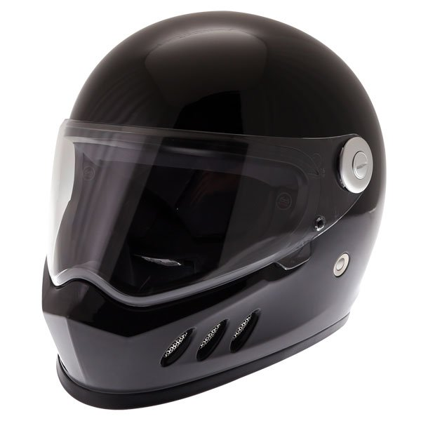 Frank Thomas FT833 Predator Black Full Face Motorcycle Helmet Front Left