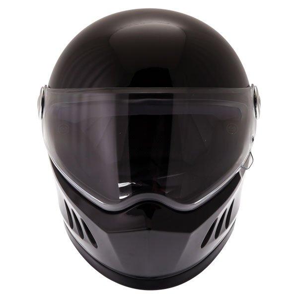 Frank Thomas FT833 Predator Black Full Face Motorcycle Helmet Front