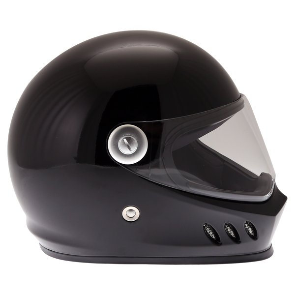 Frank Thomas FT833 Predator Black Full Face Motorcycle Helmet Right Side