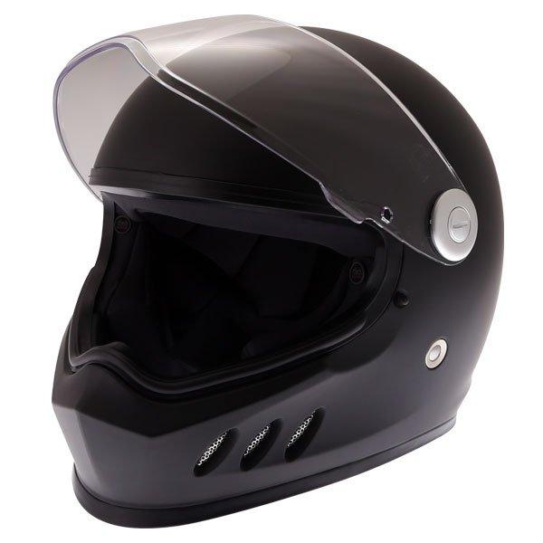 Frank Thomas FT833 Predator Matt Black Full Face Motorcycle Helmet Open Visor