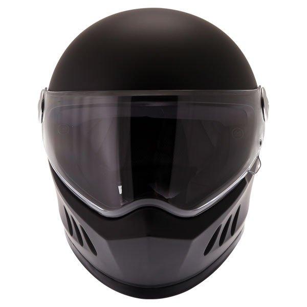 Frank Thomas FT833 Predator Matt Black Full Face Motorcycle Helmet Front