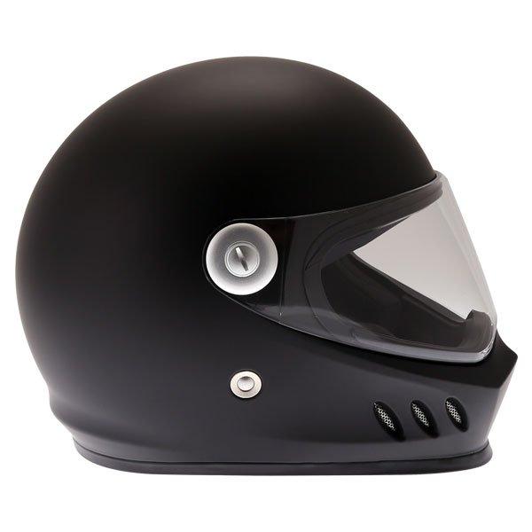 Frank Thomas FT833 Predator Matt Black Full Face Motorcycle Helmet Right Side