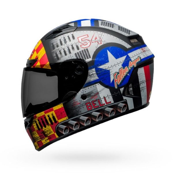 Bell Qualifier DLX Mips Devil May Care Full Face Motorcycle Helmet Left Side