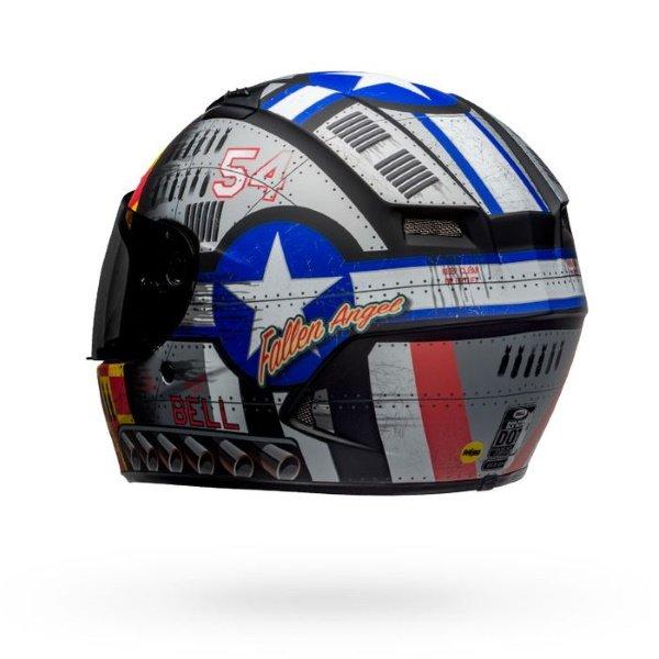 Bell Qualifier DLX Mips Devil May Care Motorcycle Helmet Back Left