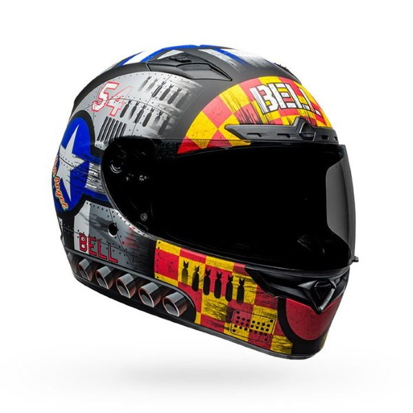 Bell Qualifier DLX Mips Devil May Care Full Face Motorcycle Helmet Front Right