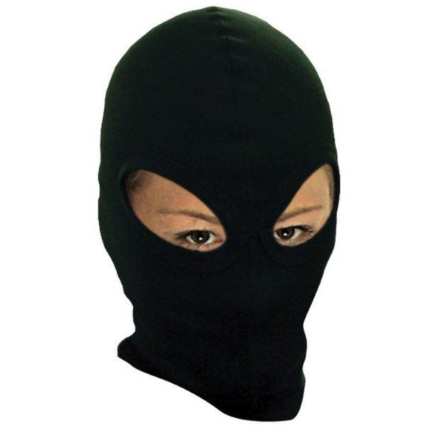 Double Eye-Hole Balaclava Black Bike-It Clothing
