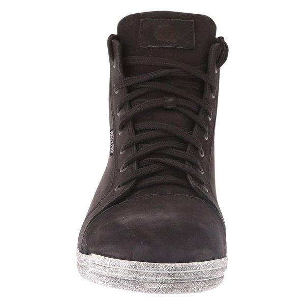 BKS Urban Black Waterproof Motorcycle Short Boots Front