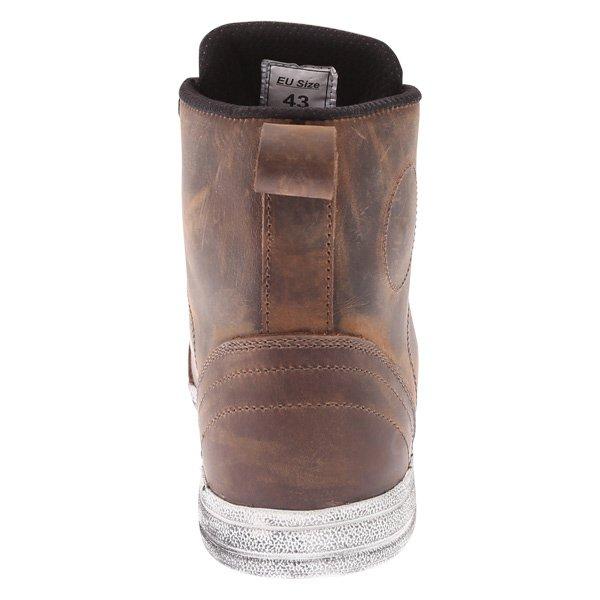 BKS Urban Brown Waterproof Motorcycle Short Boots Heel