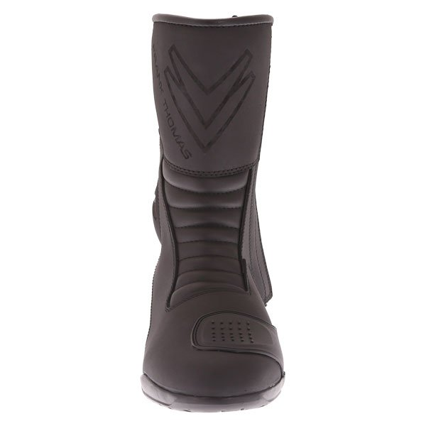 Frank Thomas Microfibre Touring Black Motorcycle Boots Front
