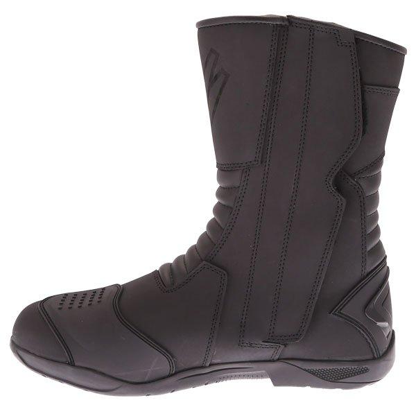 Frank Thomas Microfibre Touring Black Motorcycle Boots Inside leg