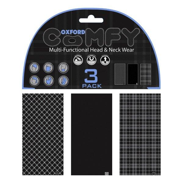 Comfy 3 Pack Tartan Black White Oxford Clothing