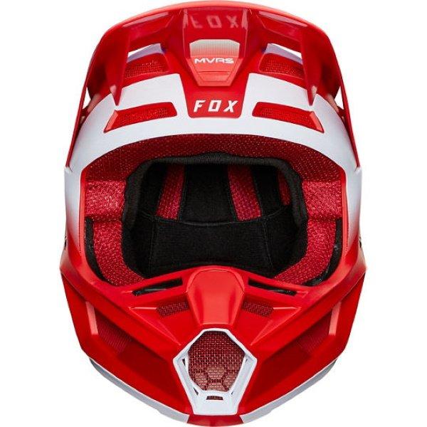 Fox V2 Vlar Flame Red Motocross Helmet Front
