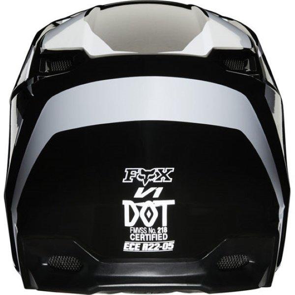 Fox V1 Prix Black Motocross Helmet Back