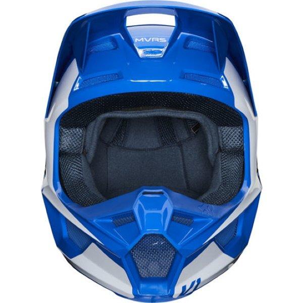 Fox V1 Prix Blue Motocross Helmet Front