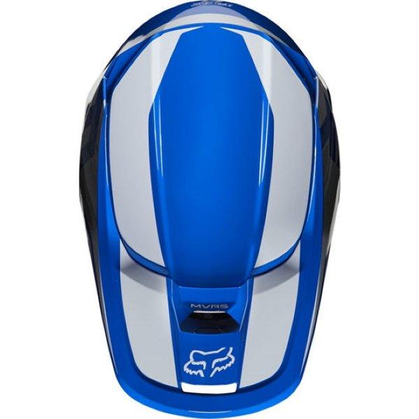 Fox V1 Prix Blue Motocross Helmet Top