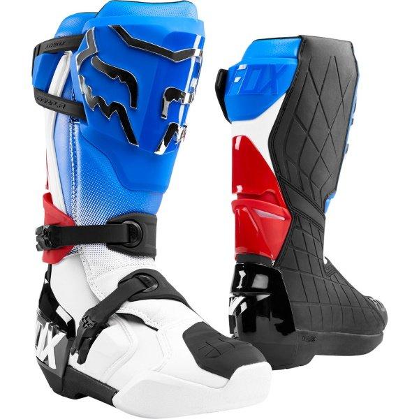 Fox Comp R Pair Blue Red MX Boots
