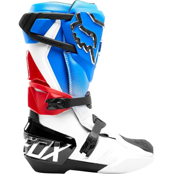 Fox Comp R Blue Red MX Boot Outside Leg