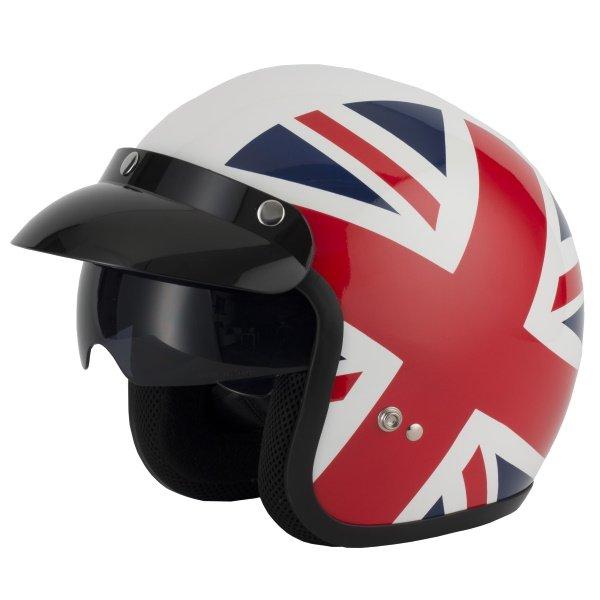 V537 Helmet Union Jack Open Face Motorcycle Helmets