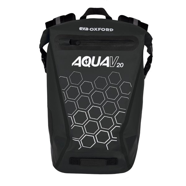 Oxford Products Aqua V 20 Black Motorcycle Backpack