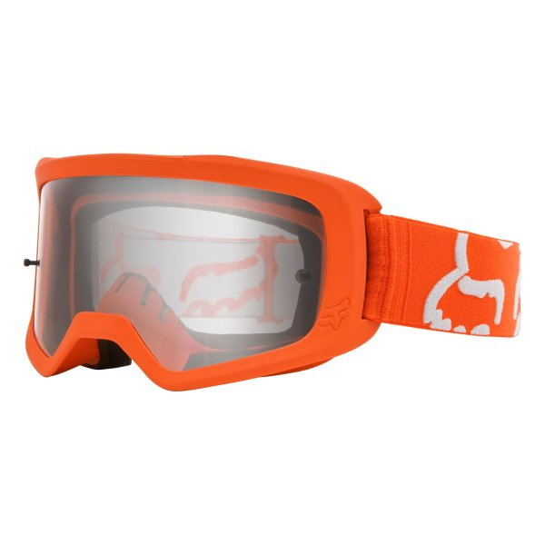Fox Main II Race Flo Orange MX Goggles Front Left