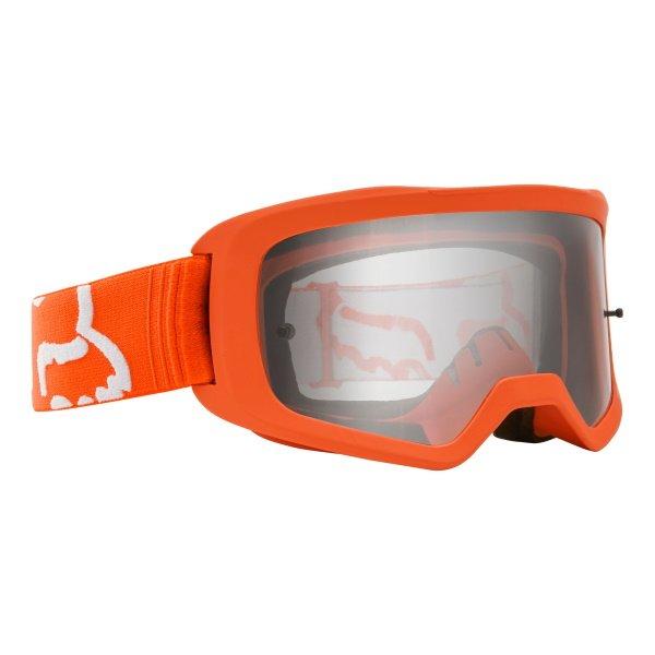 Fox Main II Race Flo Orange MX Goggles Front Right