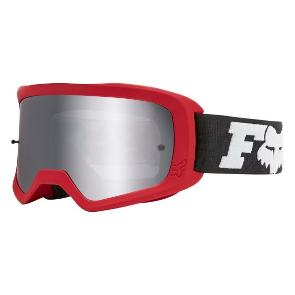 Fox Main II Linc Spark Flame Red MX Goggles Front Left