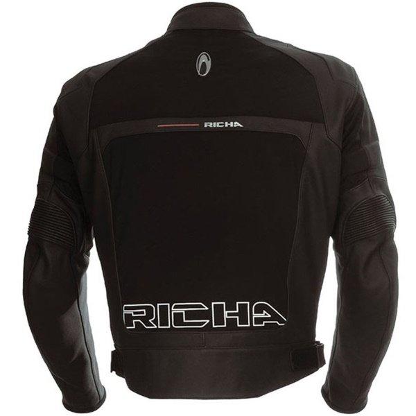 Richa Rex Black Leather Motorcycle Jacket Back
