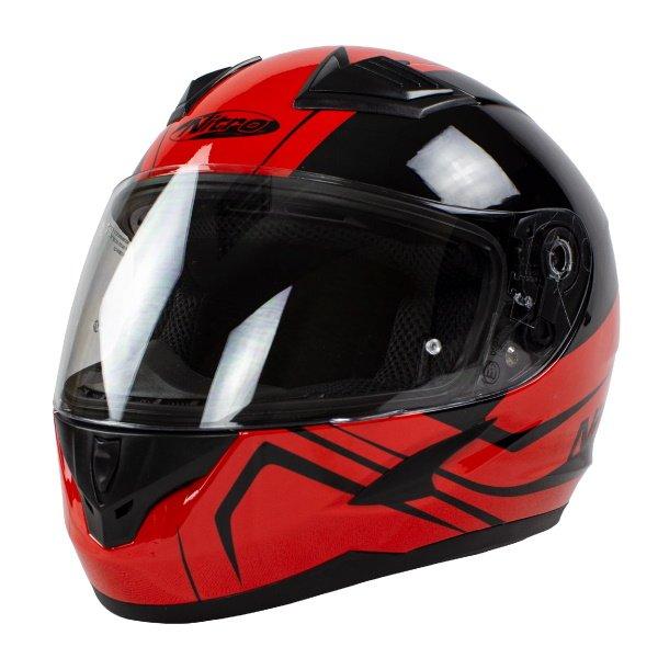 N2400 Rogue Helmet Black Red Motorcycle Helmets