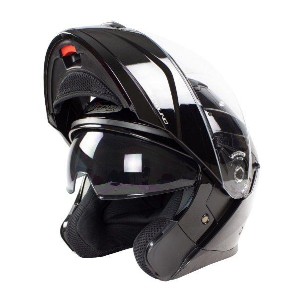 F350 Uno DVS Helmet Black Motorcycle Helmets