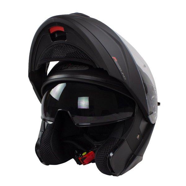 F350 Uno DVS Helmet Satin Black Motorcycle Helmets
