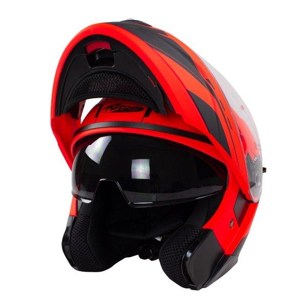 F350 Analog DVS Helmet Satin Black Red Gun Motorcycle Helmets