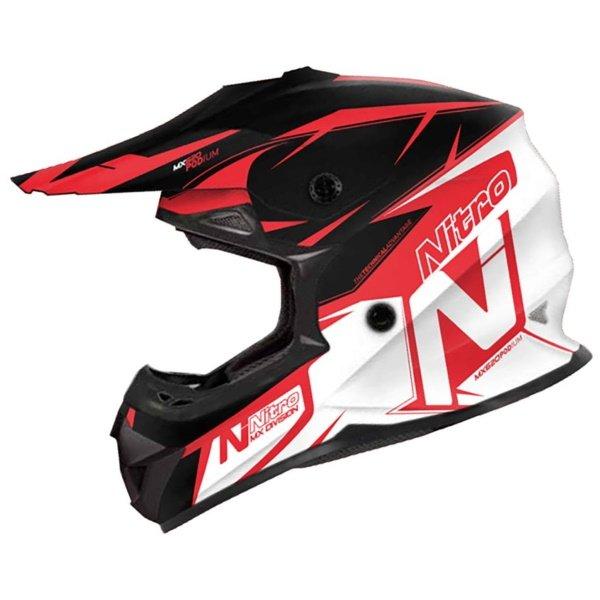 MX620 Podium Helmet Black Red White Motorcycle Helmets