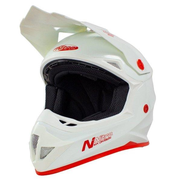 MX620 Uno Junior Helmet White Kids Motocross Helmets