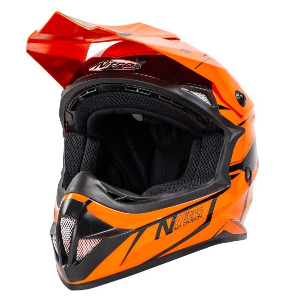 MX620 Podium Junior Helmet Black Orange Kids Motocross Helmets