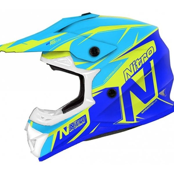 MX620 Podium Junior Helmet Safety Yellow Dark Blue Light Kids Motocross Helmets