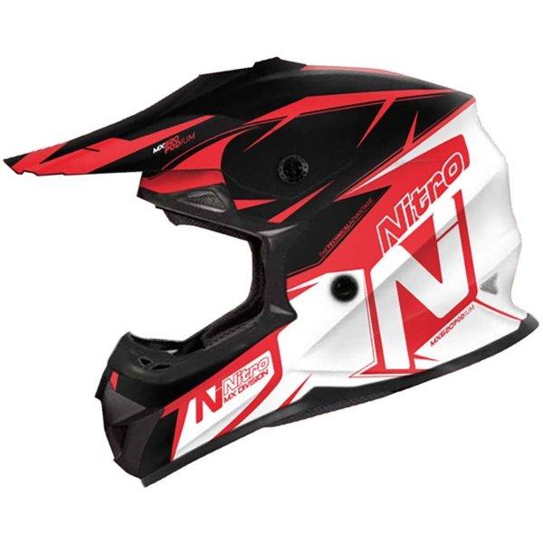 MX620 Podium Junior Helmet Black Red White Kids Motocross Helmets