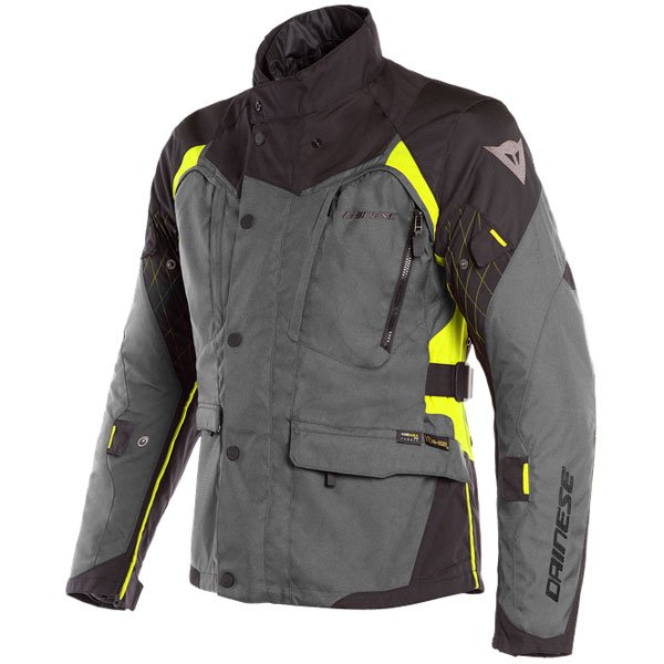 Dainese X-Tourer D-Dry Black Black Fluo Yellow Waterproof Textile Motorcycle Jacket Front