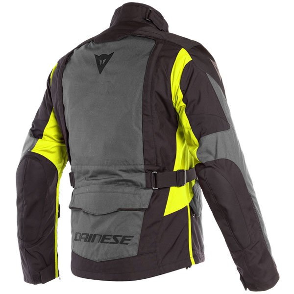 Dainese X-Tourer D-Dry Black Black Fluo Yellow Waterproof Textile Motorcycle Jacket Back